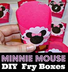 Minnie Mouse Toy Box Minnie Mouse Diy Fry Boxes Juggling Act Mama