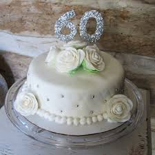 60th wedding anniversary cake diamond anniversary single tier