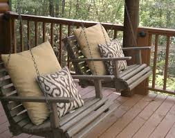 Front Porch Patio Ideas Bench Front Porch Swings Awesome Half Log Bench 25 Beautiful