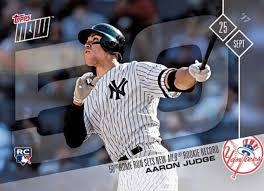 Aaron Judge Breaks Mlb Rookie Record With 50th Home Run Rolling Stone - aaron judge 50th home run card breaks single card topps now mark tsl
