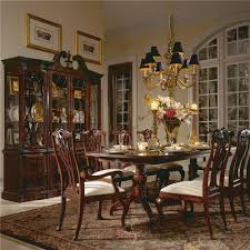 double pedestal dining table by american drew wolf and gardiner