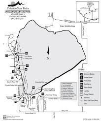 Colorado State Parks Map by Jackson Lake State Park Maplets