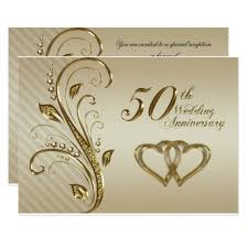 50th wedding anniversary 50th wedding anniversary rsvp card zazzle