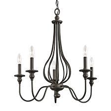 Wrought Iron Ceiling Lights Shop Kichler Kensington 25 In 5 Light Olde Bronze Wrought Iron