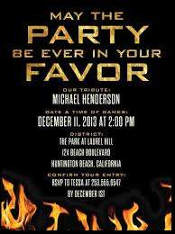 hunger games birthday invite from tinyprints com party ideas
