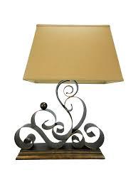 mid century regency wrought iron scroll lamp chairish