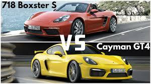 porsche boxter vs cayman 2017 porsche 718 boxster s vs cayman gt4