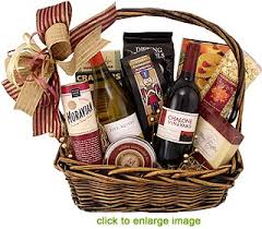 Christmas Basket Winter Wine Design Christmas Gift Basket