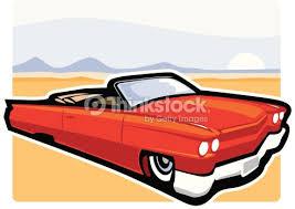cartoon convertible car vintage cadillac convertible car vector art thinkstock