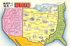 ohio on us map map of u s according to ohio