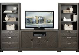 lewiston espresso 3 pc wall unit with 60 in console wall units