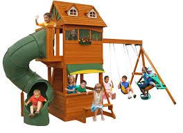 Backyard Discovery Winchester Playhouse Cedar Summit Forest Hill Retreat Swing Set U0026 Reviews Wayfair