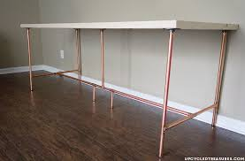 Diy Desk Pipe Mountain Modern How To Build A Copper Pipe Desk