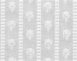 wallpaper white embossed textured vinyl tulip 56 sq ft