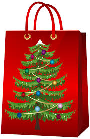 christmas gift bag christmas gift bag with christmas tree png clip image