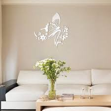 online get cheap 3d acrylic mirror wall stickers decorative mirror 3d mirror stickers butterfly flower wall stickers decorative acrylic mirror china mainland