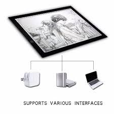 Drafting Table Pad Portable A3 Led Light Pad Box Drawing Copy Board Drafting Graphics