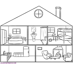 coloring pages houses house with rooms coloring pages xenia pinterest house colors