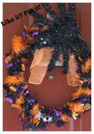 Dollar Tree Halloween Decorations Easy 7 Dollar Halloween Wreath Using Dollar Tree Supplies