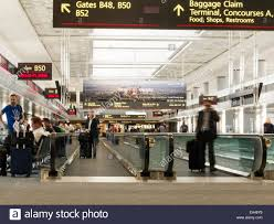 united check in luggage airport travelers moving sidewalks and gates united terminal