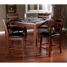 ahb rosa 5 piece dining game table set with flip top mocha