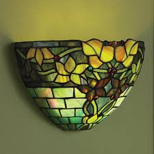 Stained Glass Wall Sconce Stunning Stained Glass Wall Sconce Glass Wall Sconce Battery