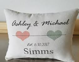 cadeau de mariage personnalis wedding date pillow 2nd anniversary gift cotton personalized
