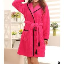robe de chambre pas cher femme peignoir femme court à capuche avec pompons achat vente
