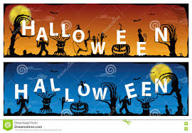 happy halloween ghost scary banner vector illustration stock