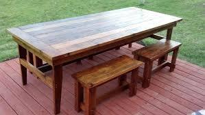 best wood for farmhouse table farm table and bench sons of sawdust reclaimed wood farm table