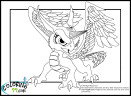 13 images of crystal dragon coloring pages skylander skylanders