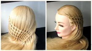 braided waterfall hairstyle feather waterfall and ladder braid