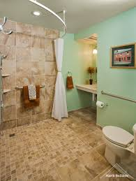 handicapped bathroom designs wheelchair accessible bathroom by harth buildersuniversal design style