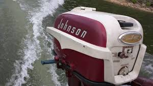 1957 johnson 35 hp youtube