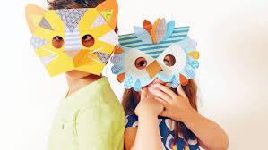 how to make paper animal masks for kids martha stewart