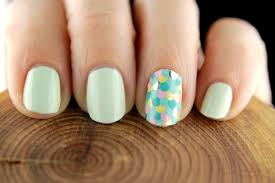 Easter Nail Designs Easter Nail Look With L U0027oreal Mint Glacee Nail Polish And Avon