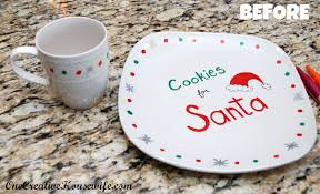 one creative diy santa cookie plate