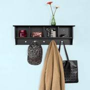 entryway wall shelves with hooks