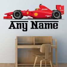 personalised formula one racing car wall sticker decal full personalised formula one racing car wall sticker decal full colour boys bedroom nursery extra