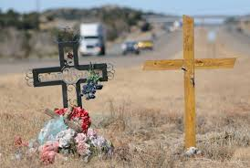 roadside crosses workers treat roadside memorials with respect albuquerque journal