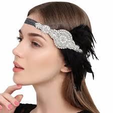 1920s hair accessories hair accessories black rhinestone beaded sequins hair band 1920s