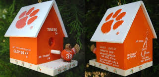 clemson ornaments clemson birdhouse ornament