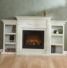 33 white fireplace with bookshelves electric fireplace with