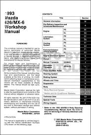 100 mazda 626 workshop manual pmx626 info us mazda 626