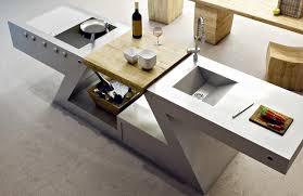 evier cuisine design meuble kitchenette de design italien pour intérieur et extérieur