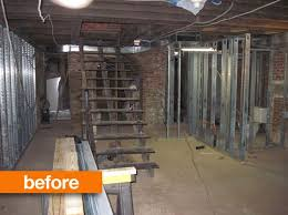 basement renovation before after an art gallery s picture perfect basement