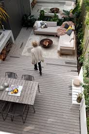 decks and patios deck midcentury with fire pit full length mirror