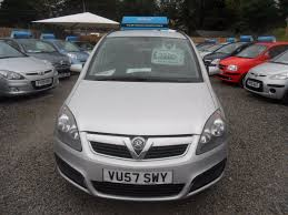 vauxhall silver used silver vauxhall zafira for sale devon