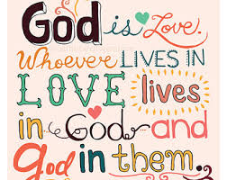 loved bible verse typography john 4 16 god love
