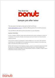 company offer letter template job offer letter template business letter template